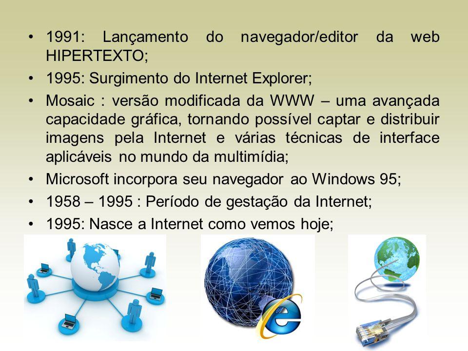 1991: Lançamento do navegador/editor da web HIPERTEXTO;