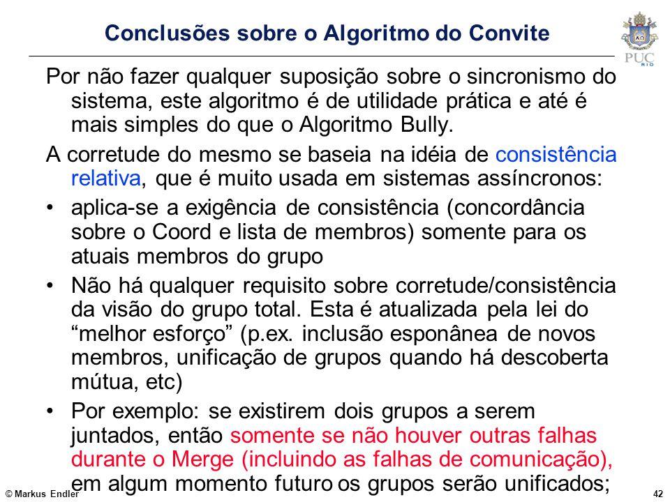 Conclusões sobre o Algoritmo do Convite