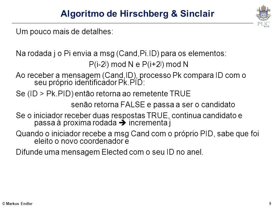 Algoritmo de Hirschberg & Sinclair