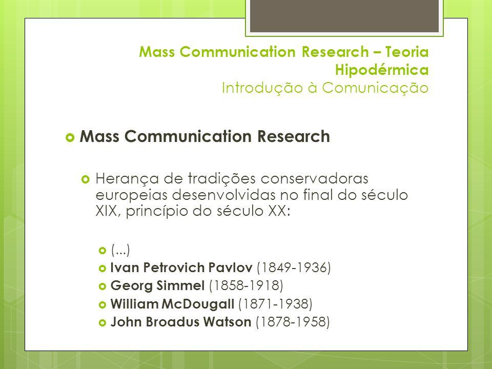 Mass Communication Research
