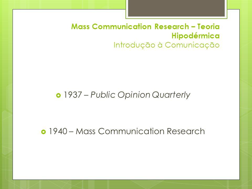1937 – Public Opinion Quarterly