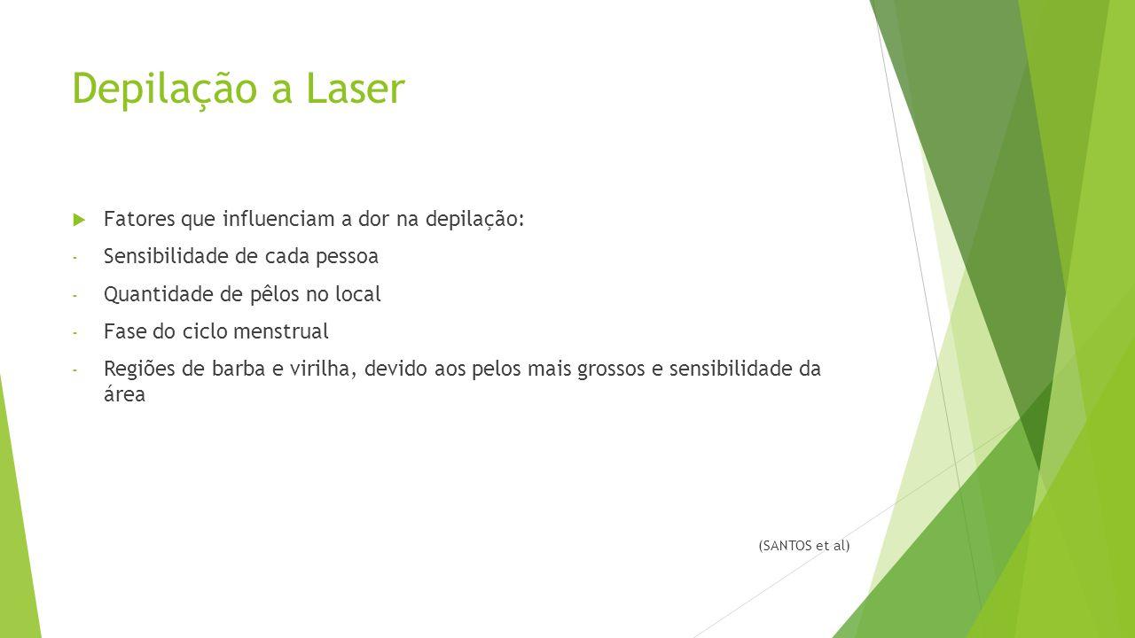 Depilação a Laser Fatores que influenciam a dor na depilação: