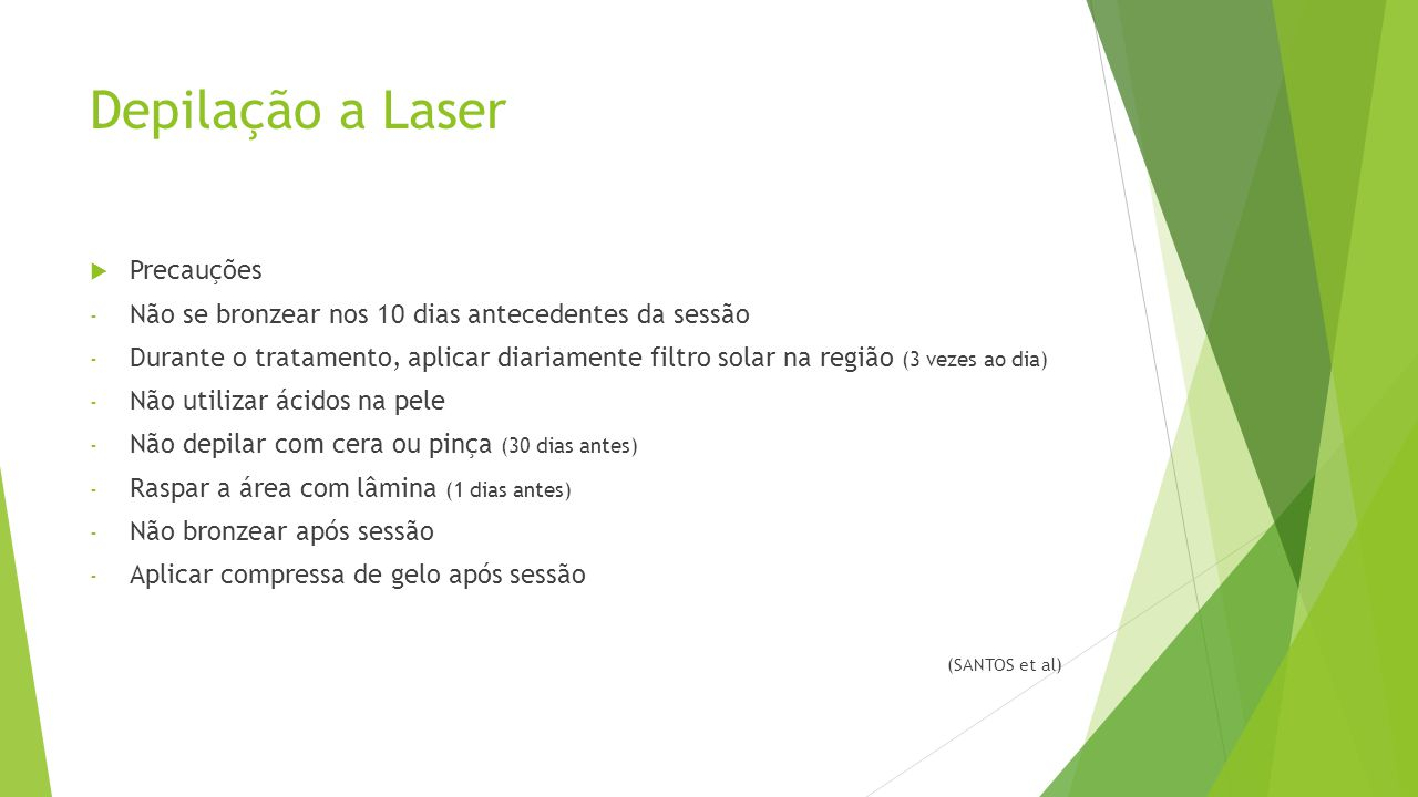 Depilação a Laser Precauções