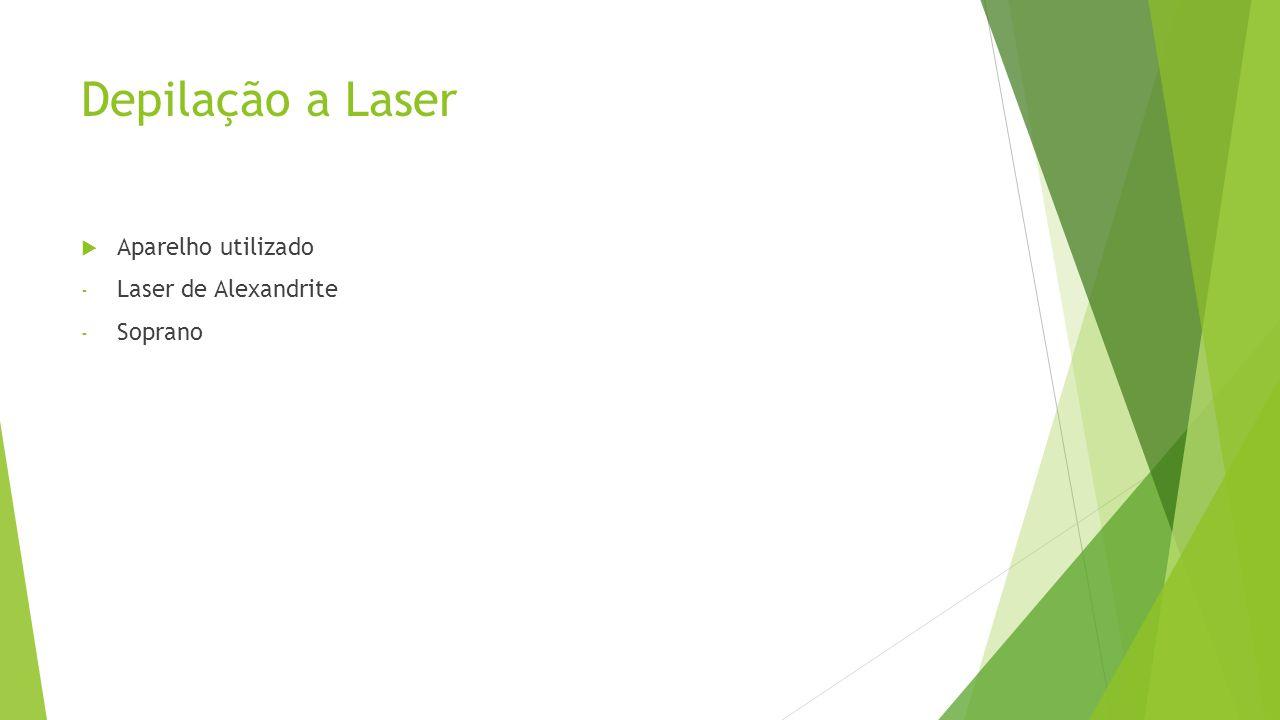 Depilação a Laser Aparelho utilizado Laser de Alexandrite Soprano