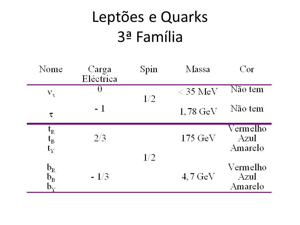 Leptões e Quarks 3ª Família