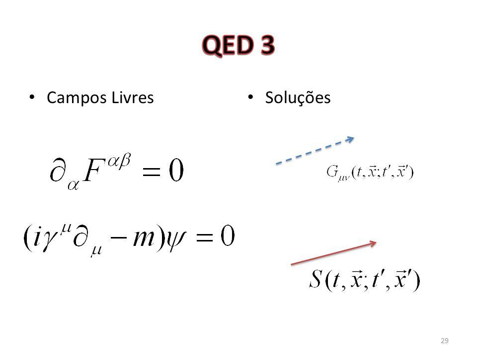 QED 3 Campos Livres Soluções