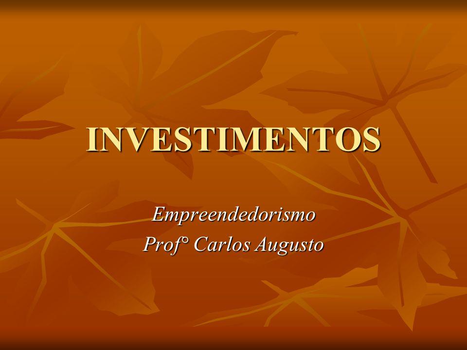 Empreendedorismo Prof° Carlos Augusto
