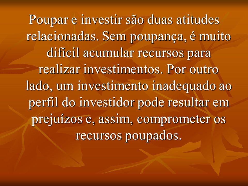 Poupar e investir são duas atitudes relacionadas