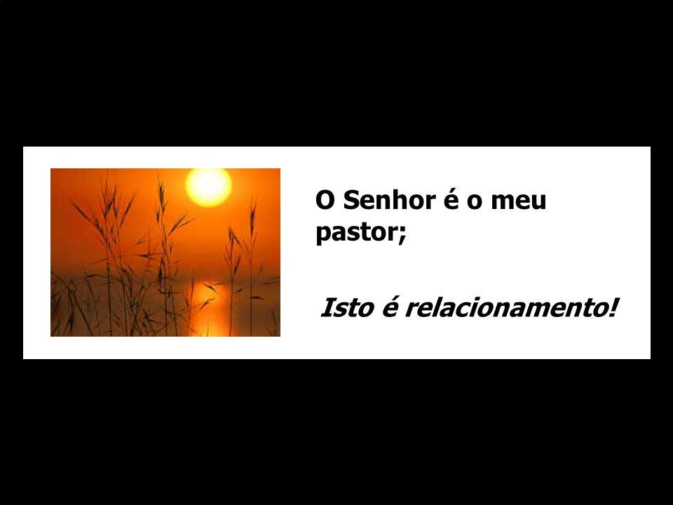 O Senhor é o meu pastor; Isto é relacionamento!