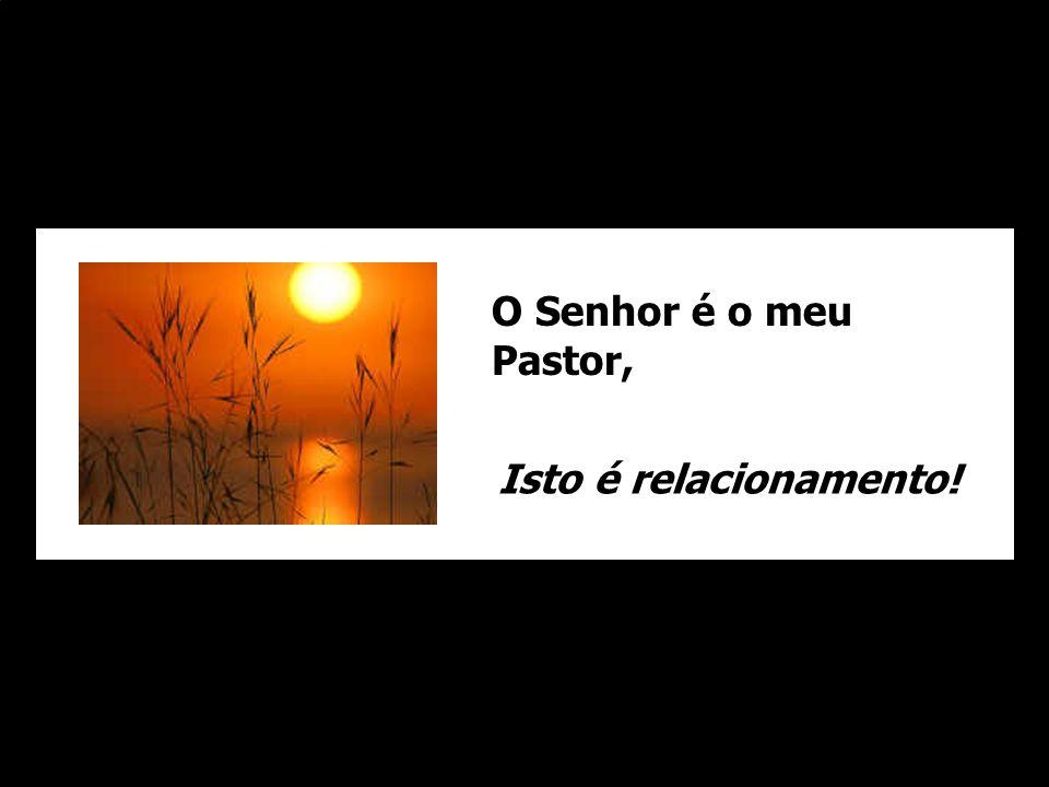 O Senhor é o meu Pastor, Isto é relacionamento!