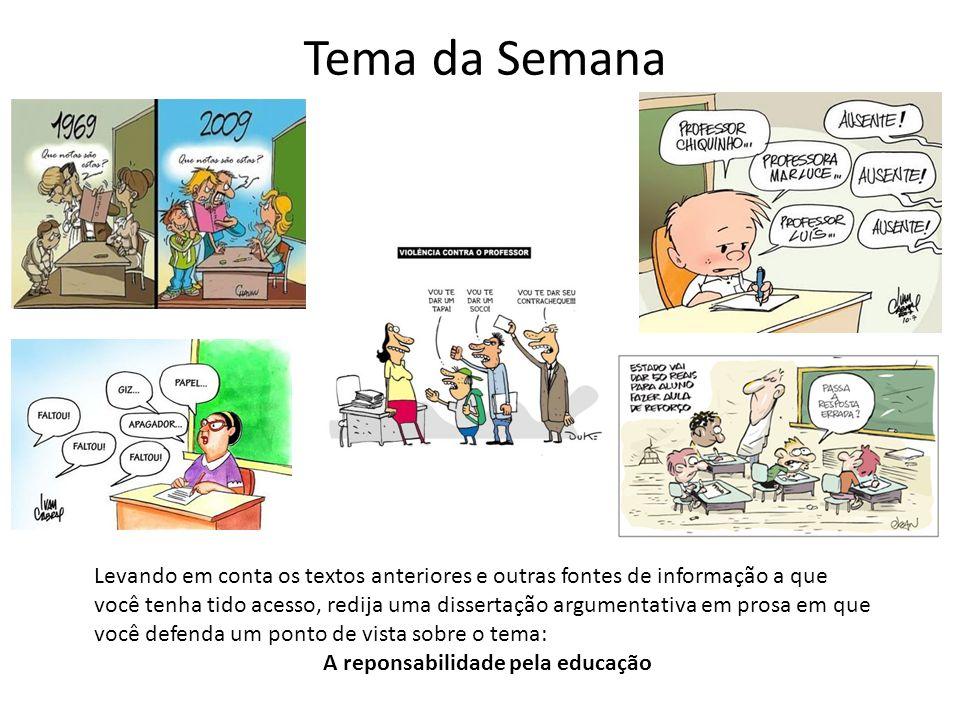 A reponsabilidade pela educação