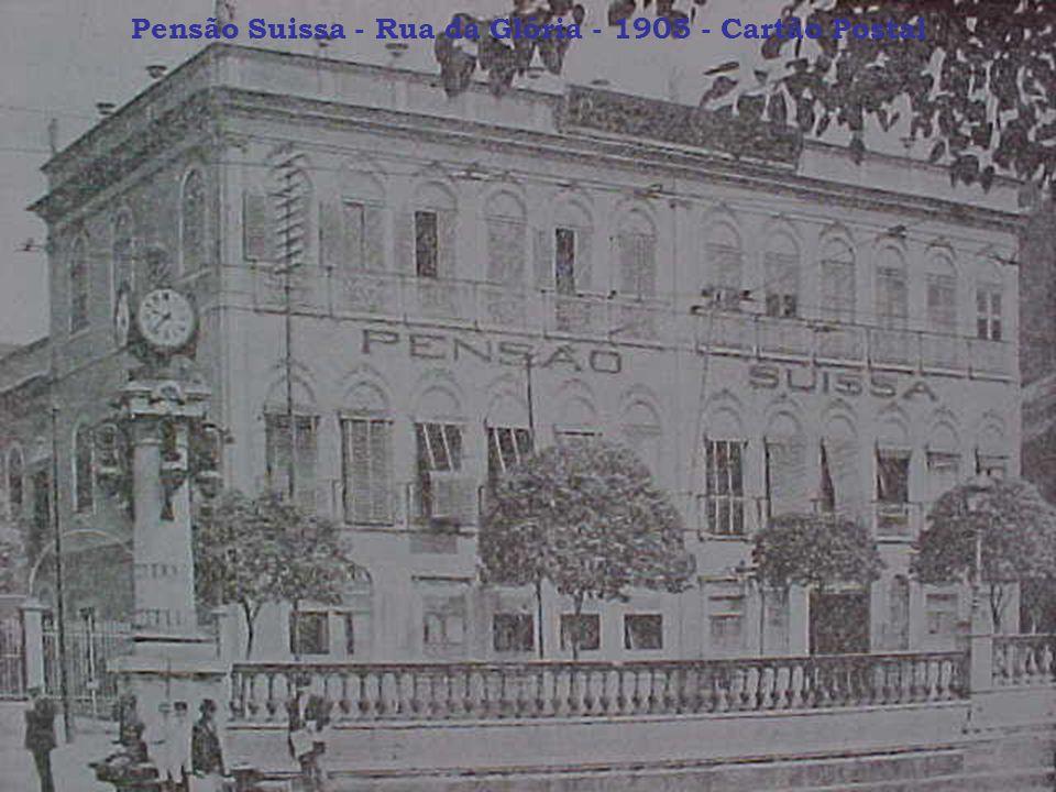 Pensão Suissa - Rua da Glória - 1905 - Cartão Postal