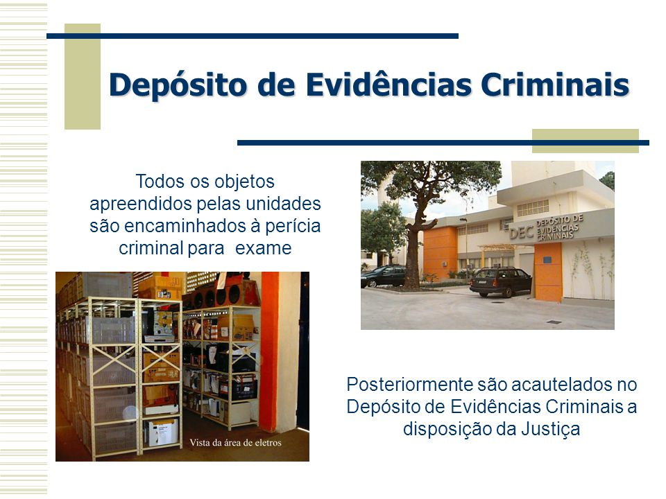 Depósito de Evidências Criminais