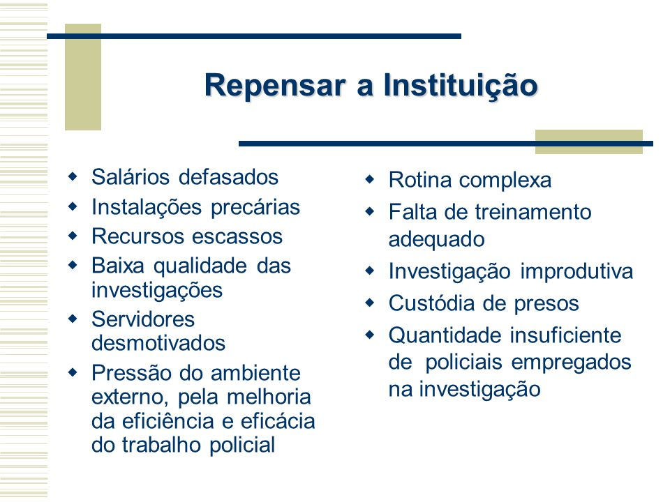 Repensar a Instituição