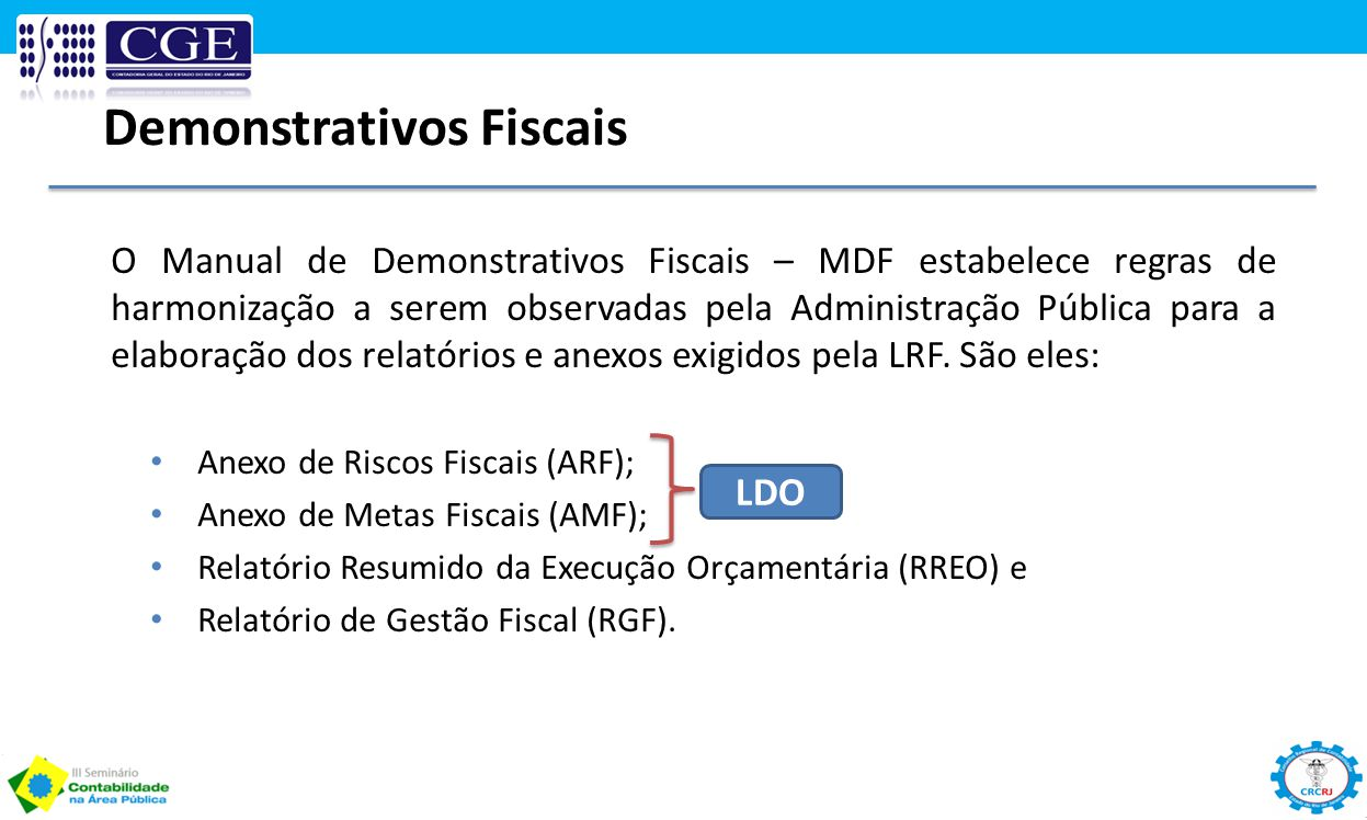 Demonstrativos Fiscais