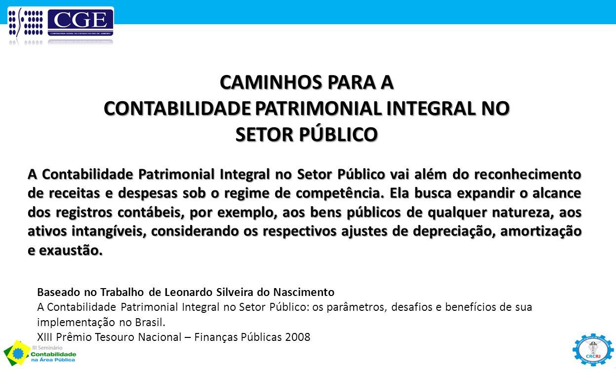 CONTABILIDADE PATRIMONIAL INTEGRAL NO SETOR PÚBLICO