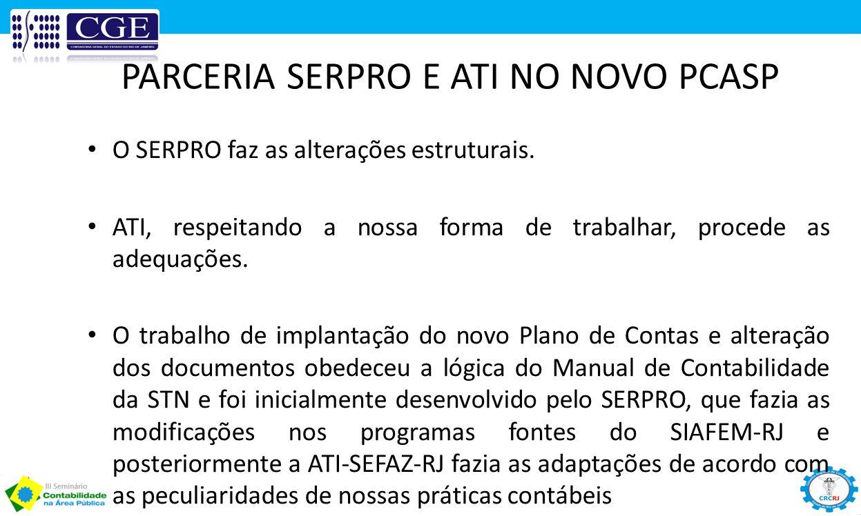 PARCERIA SERPRO E ATI NO NOVO PCASP