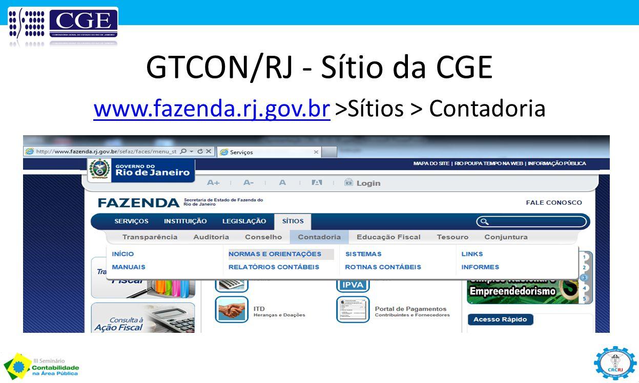 www.fazenda.rj.gov.br >Sítios > Contadoria