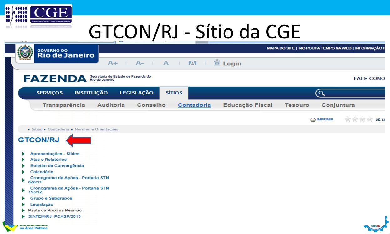 GTCON/RJ - Sítio da CGE