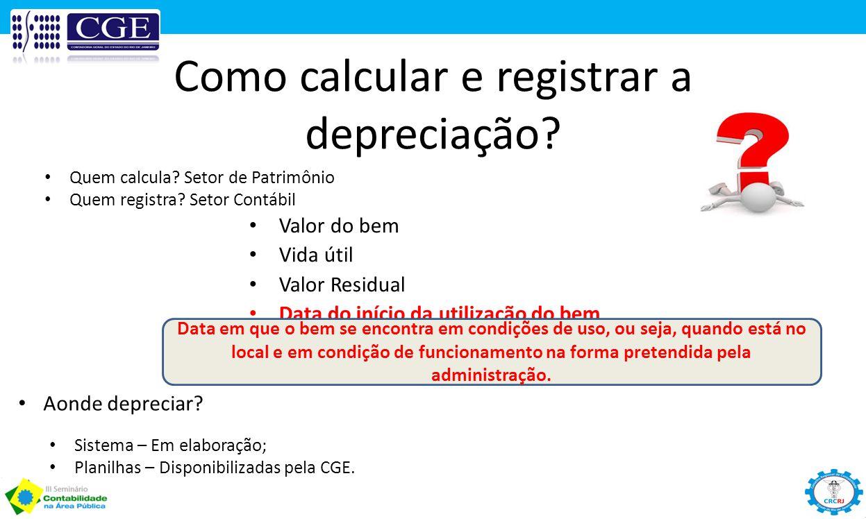 Como calcular e registrar a depreciação