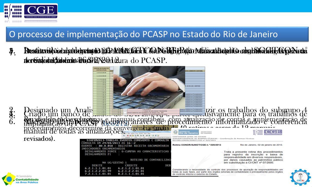 O processo de implementação do PCASP no Estado do Rio de Janeiro