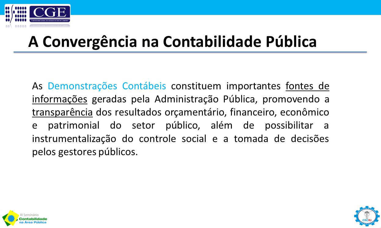 A Convergência na Contabilidade Pública