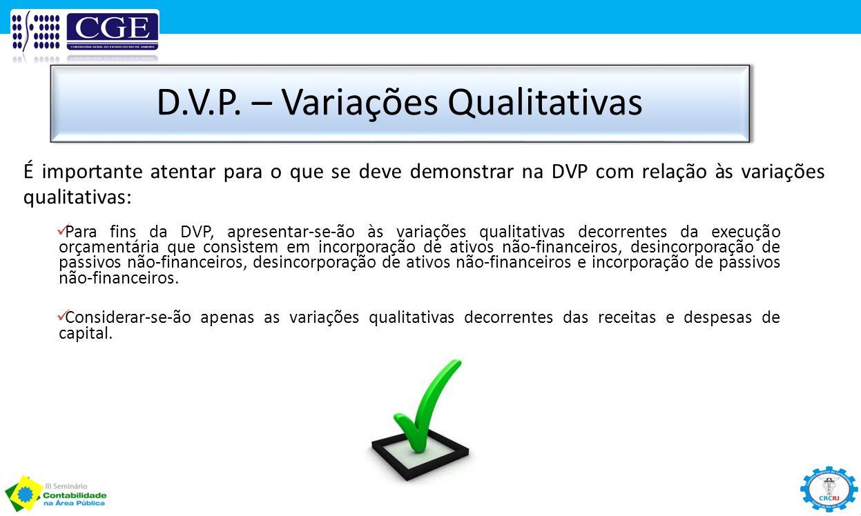 D.V.P. – Variações Qualitativas