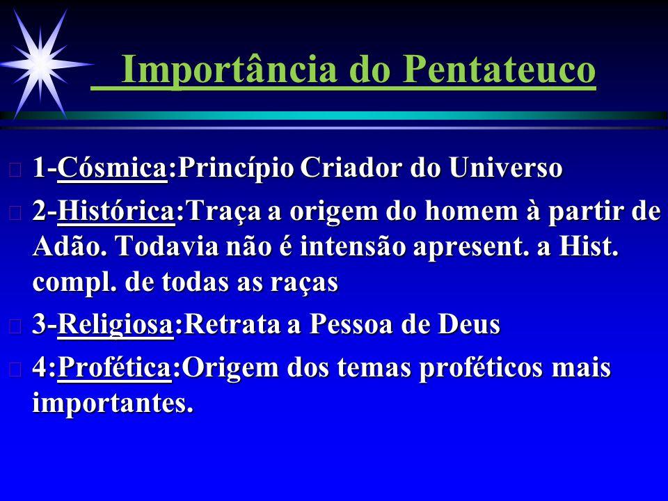 Importância do Pentateuco
