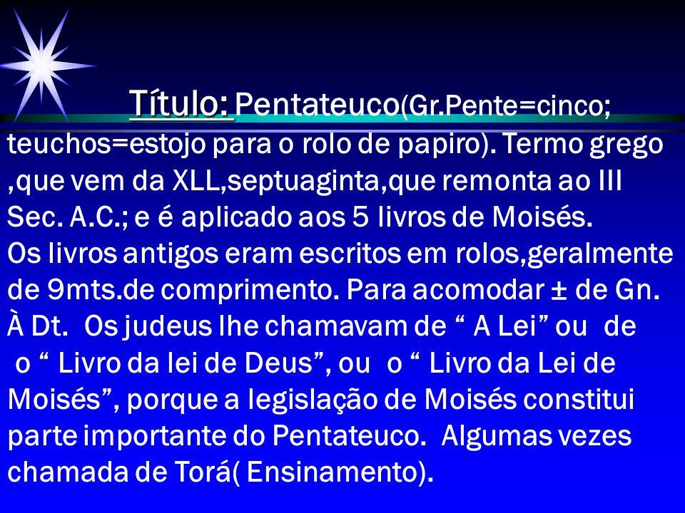 Título: Pentateuco(Gr
