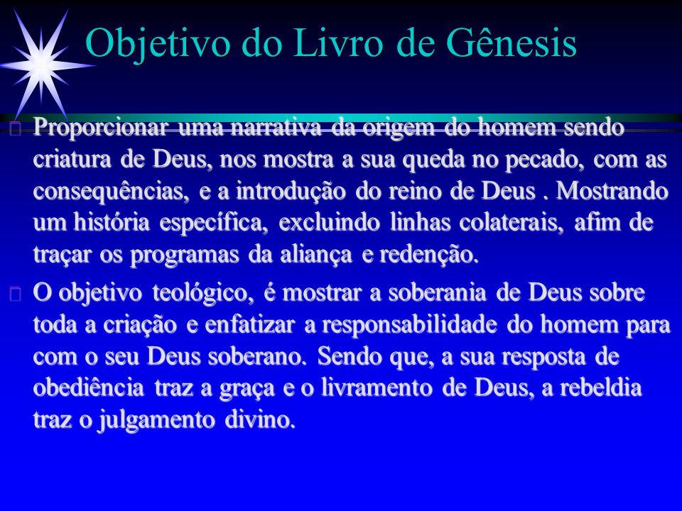 Objetivo do Livro de Gênesis