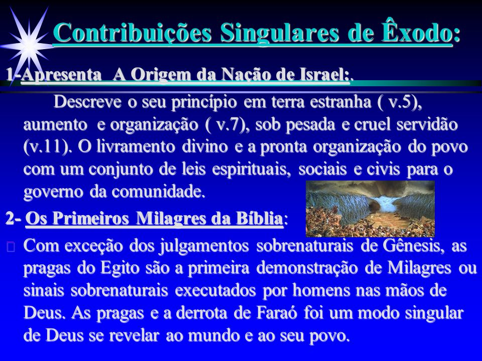 Contribuições Singulares de Êxodo: