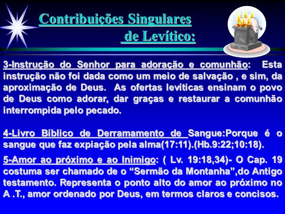 Contribuições Singulares de Levítico: