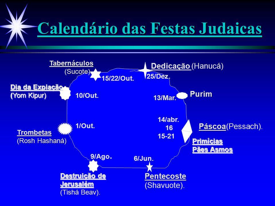 Calendário das Festas Judaicas