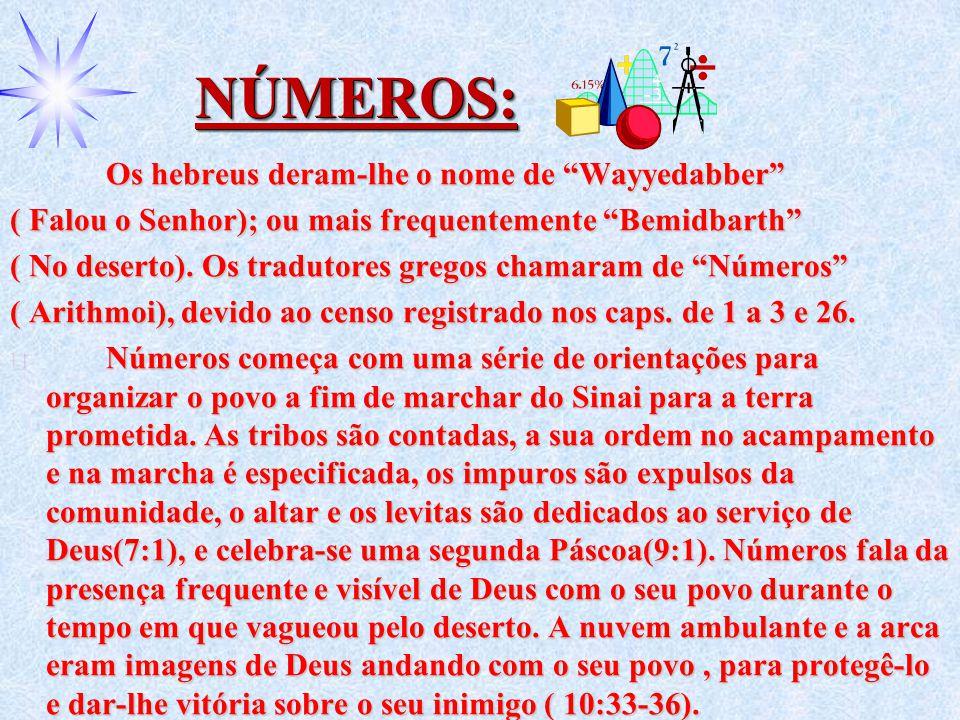 NÚMEROS: Os hebreus deram-lhe o nome de Wayyedabber