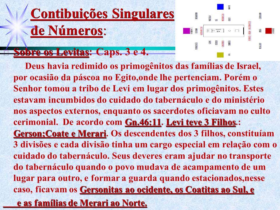 Contibuições Singulares de Números: