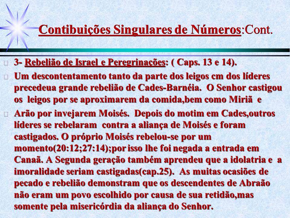 Contibuições Singulares de Números:Cont.