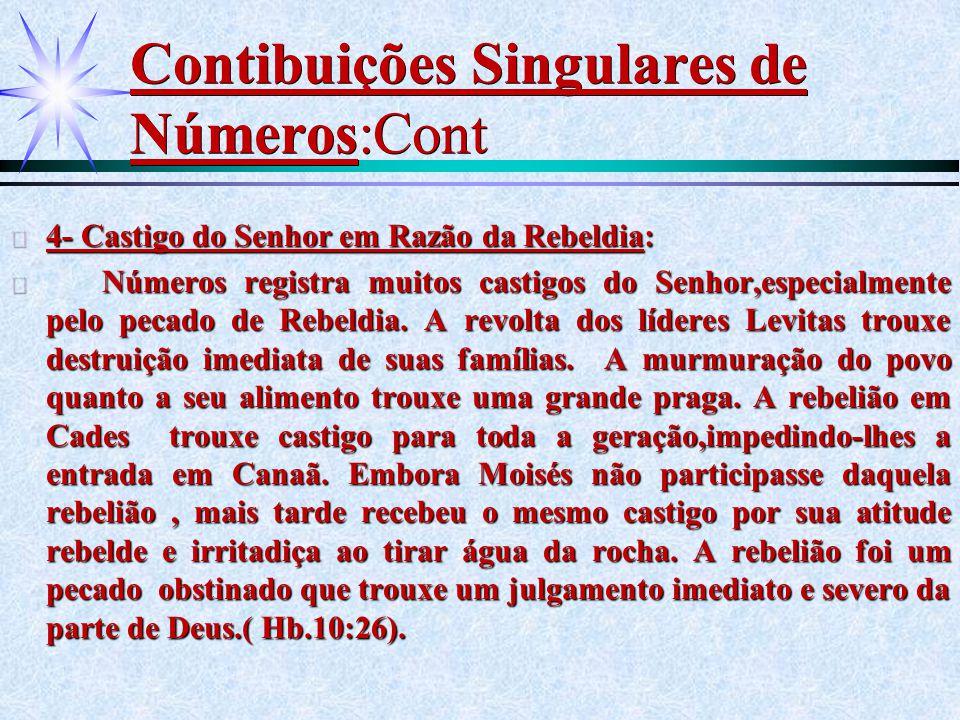 Contibuições Singulares de Números:Cont