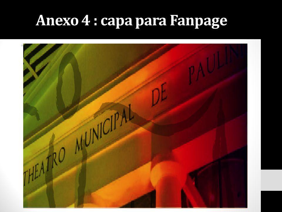 Anexo 4 : capa para Fanpage