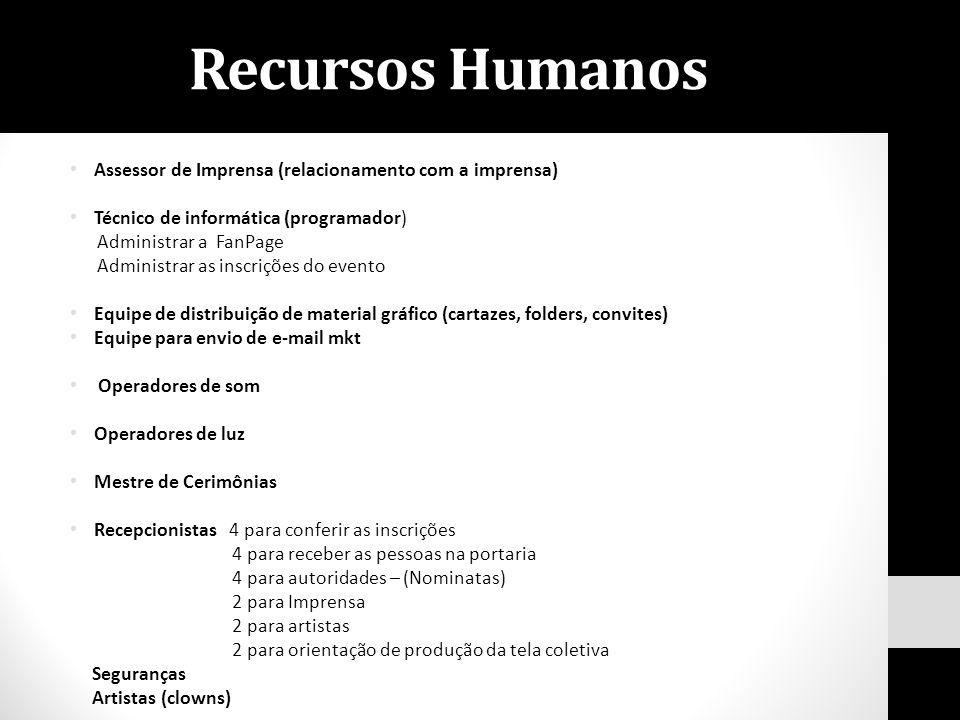 Recursos Humanos Assessor de Imprensa (relacionamento com a imprensa)