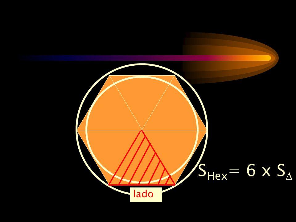 SHex= 6 x S lado