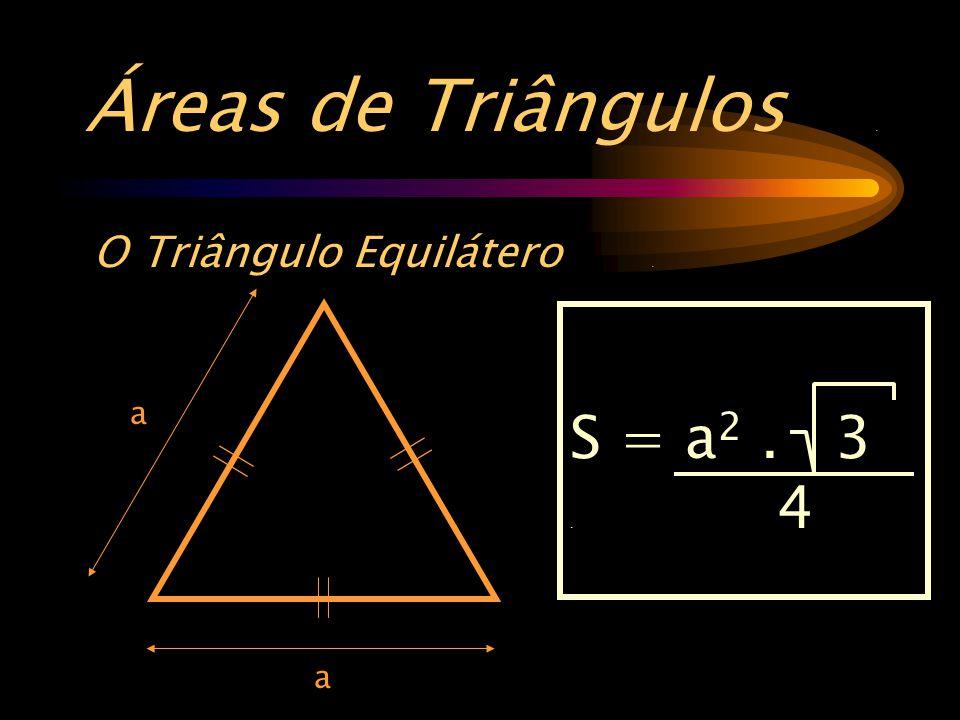 Áreas de Triângulos . O Triângulo Equilátero . a S = a2 . 3 . 4 a
