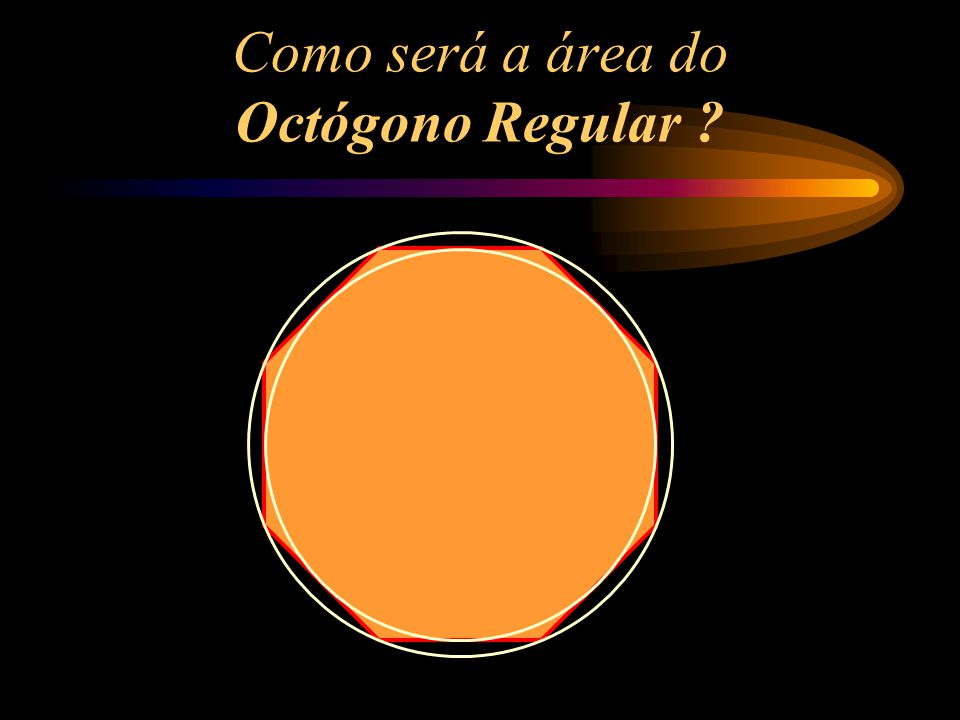 Como será a área do Octógono Regular