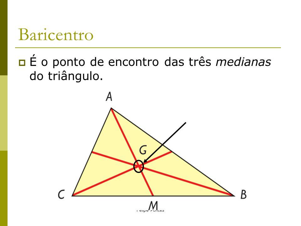 Baricentro É o ponto de encontro das três medianas do triângulo.
