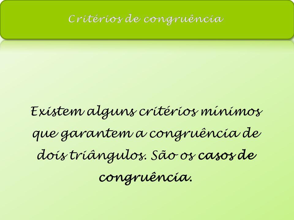 Critérios de congruência