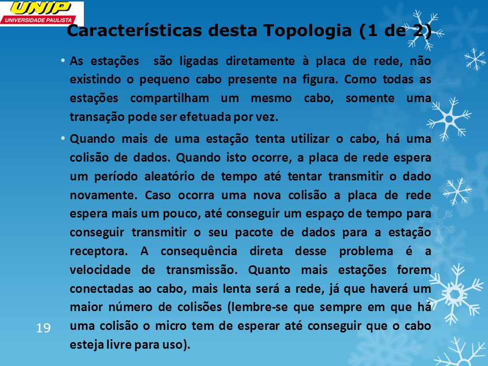 Características desta Topologia (1 de 2)