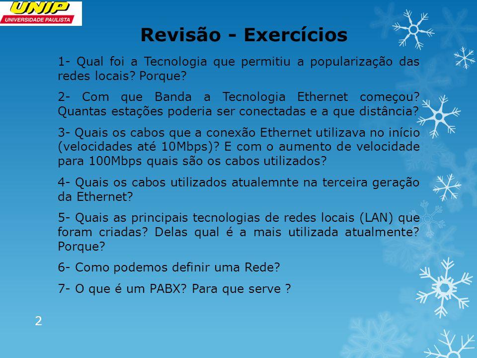Revisão - Exercícios