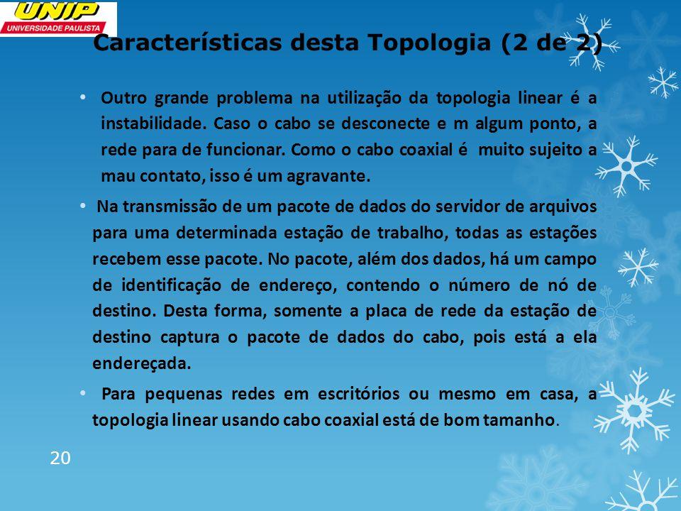 Características desta Topologia (2 de 2)