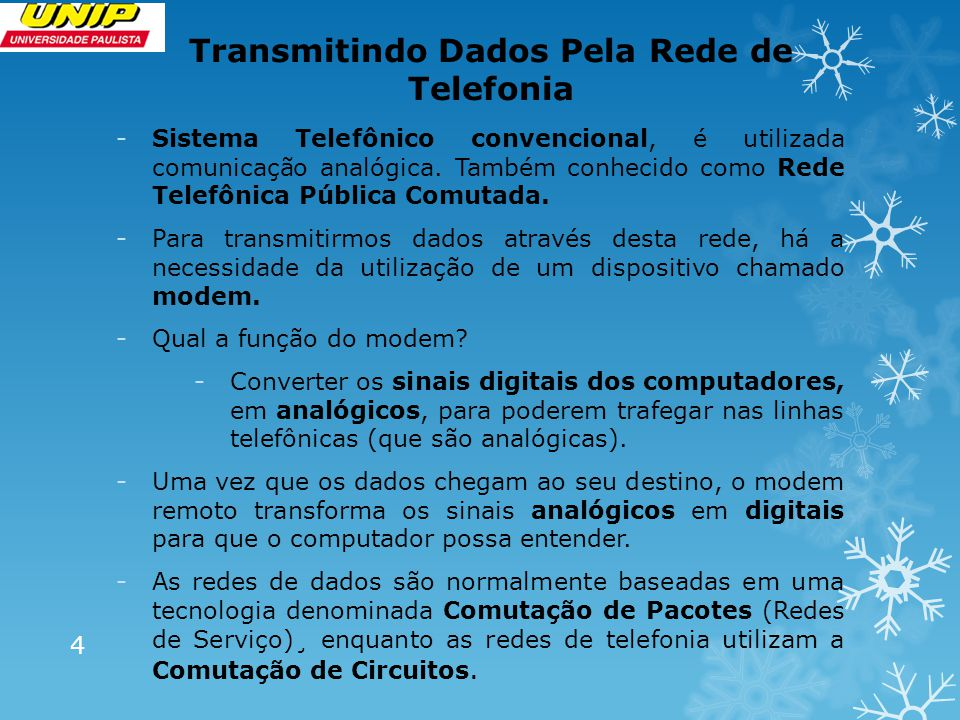 Transmitindo Dados Pela Rede de Telefonia