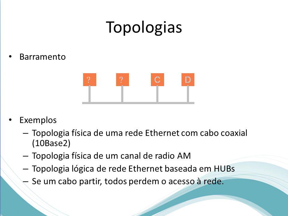 Topologias Barramento Exemplos