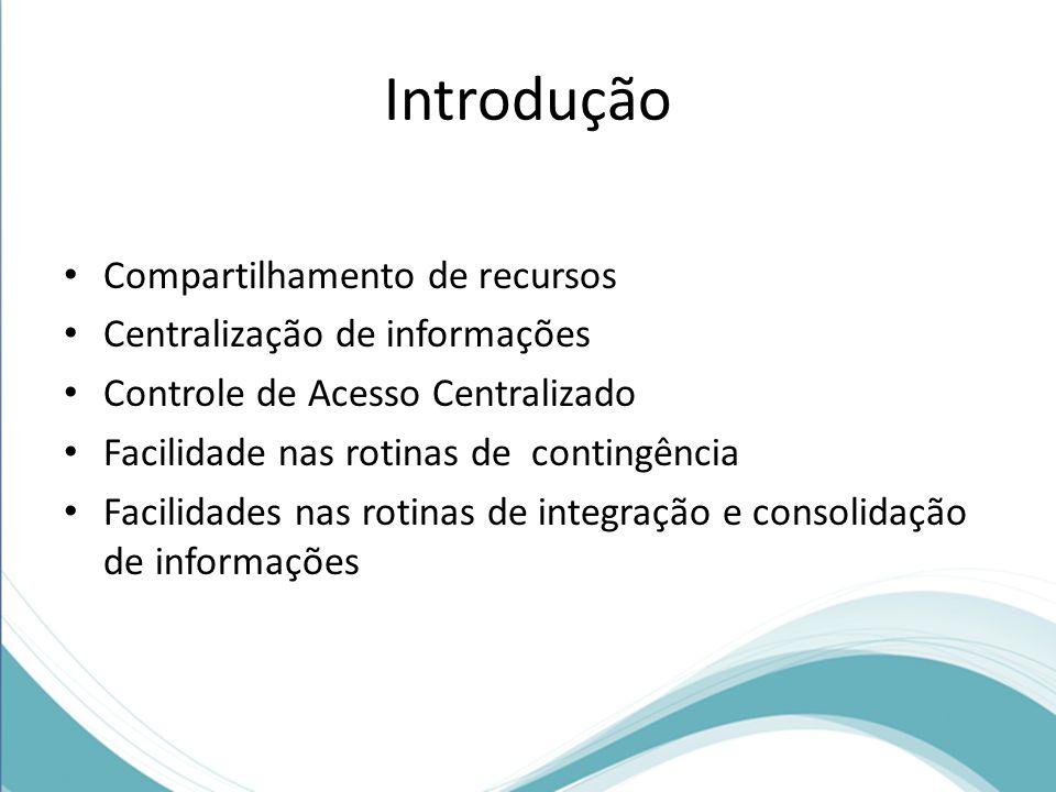 Introdução Compartilhamento de recursos Centralização de informações